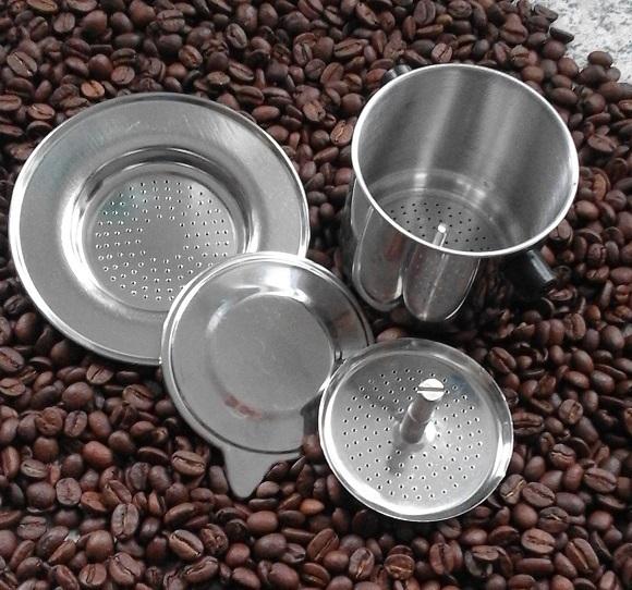 vietnamesischer kaffeefilter edelstahl mit schraubgewinde. Black Bedroom Furniture Sets. Home Design Ideas