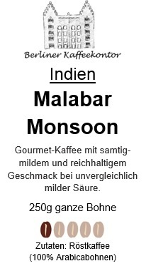 Indien Malabar Monsooned  250g bean