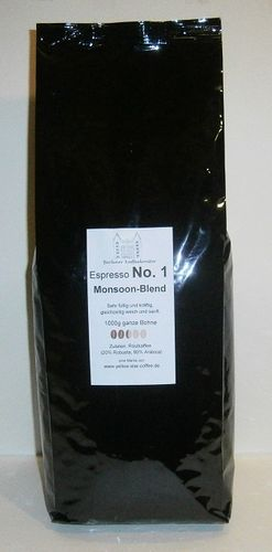 No.1 Monsoon Blend - Espresso 1000g Bohne