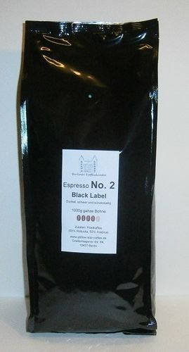 No.2 Black Label - Espresso 250g Bohne