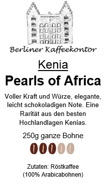 Kenia Pearls of Africa 250g bean