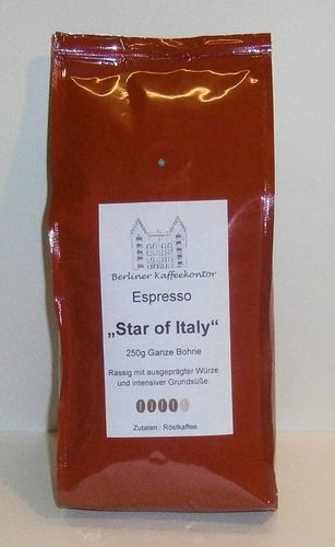 Espresso Star of Italy 250g ganze Bohne