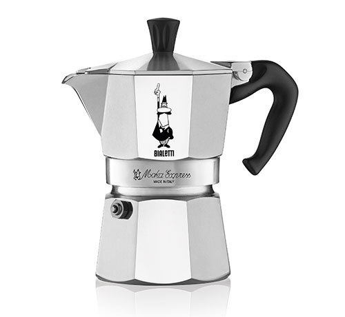 bialetti moka express espressokocher 6 tassen yellow star coffee. Black Bedroom Furniture Sets. Home Design Ideas