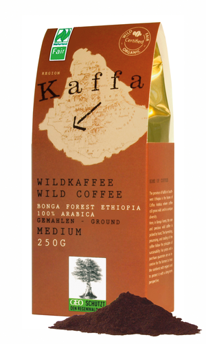 Kaffa Wildkaffee Medium 250g gemahlen