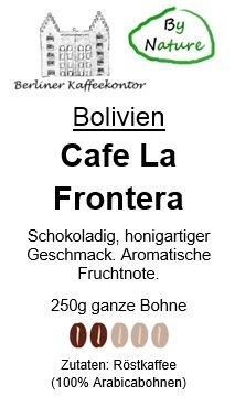 by nature Bolivien Cafe La Frontera 250g Bohne
