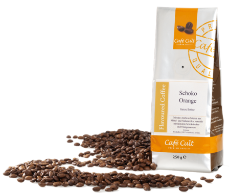 flavoured coffee - chocolate orange - 1 Kg whole bean