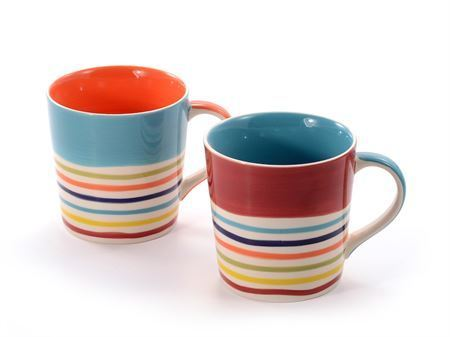 Kaffee-/ Teebecher Tinka Orange/Blue